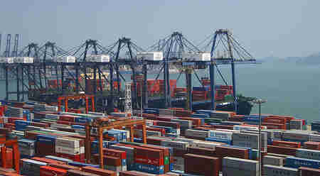 Shenzhen Container Port by Bert van Dijk on Flickr