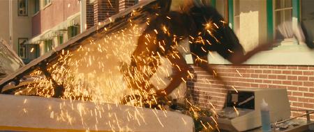 Murdock d-fibs an engine from A-Team copyright 20th Century Fox