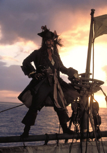 Jack Sparrow from Pirates of the Caribbean - copyright Walt Disney Pictures