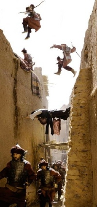 Dastan escaping from Prince of Persia - copyright Walt Disney Pictures