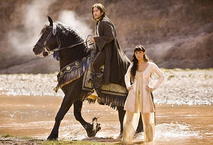 Dastan and Tamina on Royal horse from Prince of Persica - copyright Walt Disney Pictures