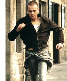 Ewan McGregor as Renton in Trainspotting