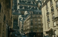 Paris bending on itself from Inception