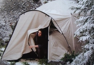 Bella in a tent from the Summit Entertainment film Eclipse