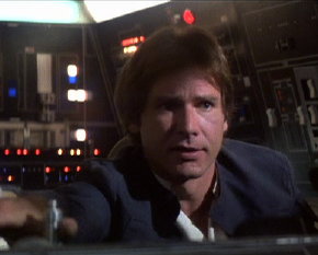 Harrison Ford as Han Solo in The Empire Strikes Back