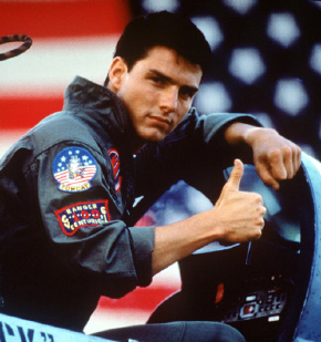 Tom Cruise as Pete Mitchell in Top Gun