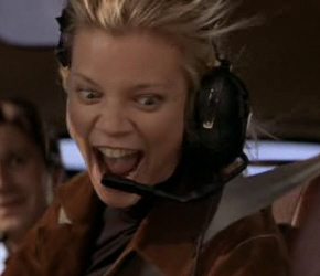 Amy Smart as Tracy Faucet in Rat Race