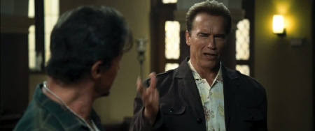 Arnold Schwarzenegger cameo from the Lionsgate film The Expendables