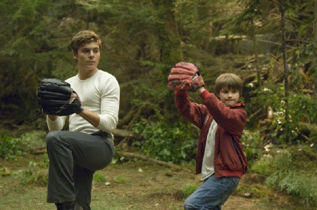 Charlie and Sam playing baseball from the Universal Pictures film Charlie St. Cloud