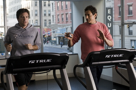 Wally and Leonard running on treadmills from the Miramax film The Switch