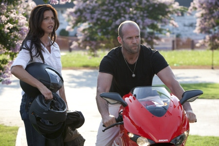 Charisma Carpenter and Jason Statham from the Lionsgate film The Expendables