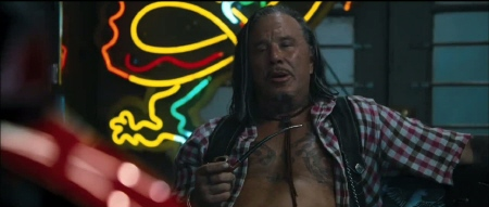 Mickey Rourke from the Lionsgate film The Expendables