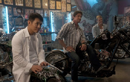 the Expendables on their motorcycles from the Lionsgate film The Expendables