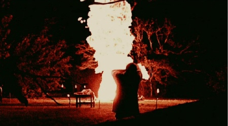huge fire from the Lionsgate film The Last Exorcism