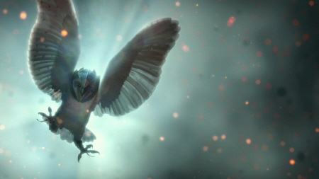 an owl attacking from the Warner Bros. Pictures film Legend of the Guardians