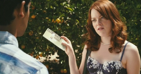 Olive gets paid in coupons from the Sony Pictures film Easy A