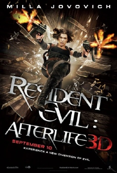 poster from the Sony Pictures film Resident Evil Afterlife