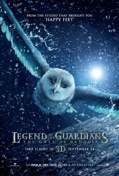 poster from the Warner Bros. Pictures film Legend of the Guardians