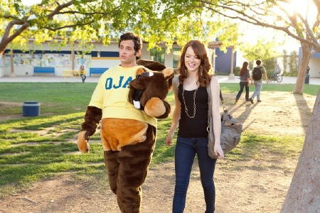 Olive and Woodchuck Todd from the Sony Pictures film Easy A