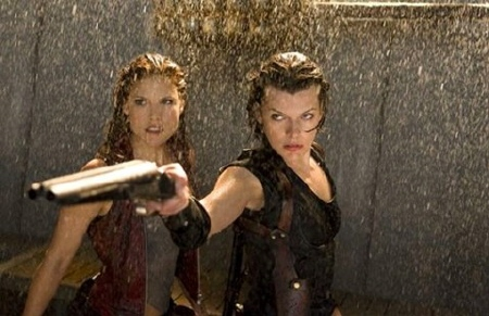 claire and alice from the Sony Pictures film Resident Evil Afterlife