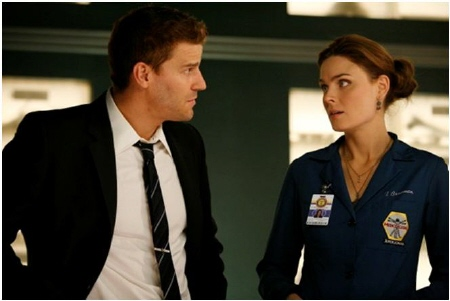 Booth and Brennan from Bones