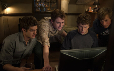 Eduardo, Dustin, and Mark from the Columbia Pictures film The Social Network