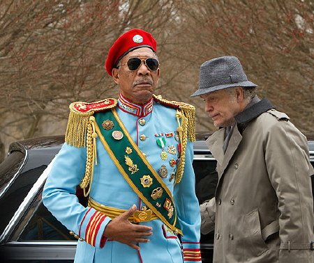 Joe dressed as an African general from the Summit Entertainment film Red
