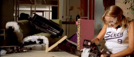 molly sawing furniture in half from the movie thunderstruck