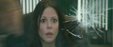 Sarah Ross sees a bullet from the Summit Entertainment film Red