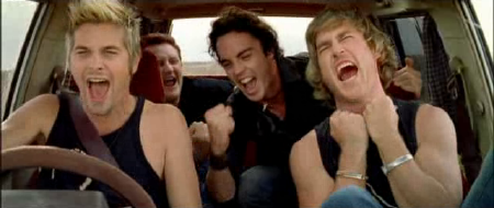 singing total eclipse of the heart from the movie thunderstruck