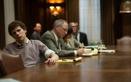 Mark and the lawyers from the Columbia Pictures film The Social Network