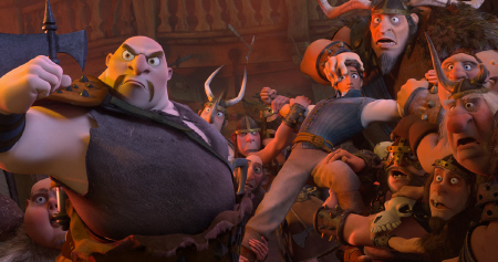 Flynn gets in a bar fight at the Snuggly Duckling from the Walt Disney Pictures film Tangled