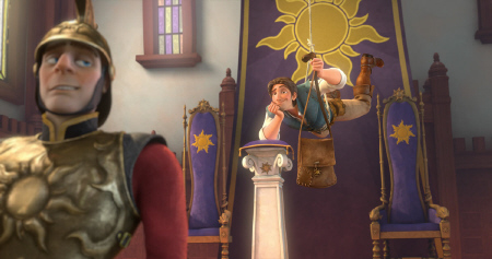 Flynn steals the crown from the Walt Disney Pictures Film Tangled