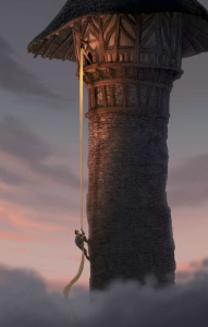 tower art from the Walt Disney Pictures film Tangled