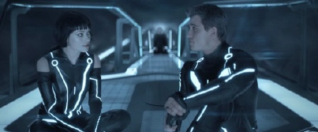 Quorra and Sam from the Walt Disney Pictures film Tron Legacy