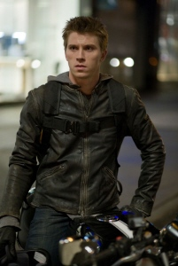 Sam Flynn on his motorcycle from the Walt Disney Pictures film Tron Legacy