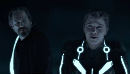 Kevin and Sam Flynn from the Walt Disney Pictures film Tron Legacy