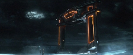 flying doorframe from the Walt Disney Pictures film Tron Legacy