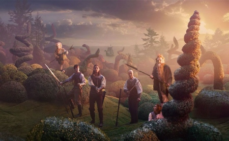 Caspian with the one footed people from the 20th Century Fox film Chronicles of Narnia Voyage of the Dawn Treader