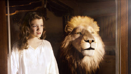 Lucy and Aslan from the 20th Century Fox film Chronicles of Narnia Voyage of the Dawn Treader