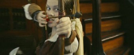 Lucy with bow and arrow from the 20th Century Fox film Chronicles of Narnia Voyage of the Dawn Treader