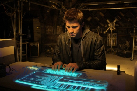 Sam in the secret office from the Walt Disney Pictures film Tron Legacy