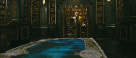 sorcerer with map from the 20th Century Fox film Chronicles of Narnia Voyage of the Dawn Treader