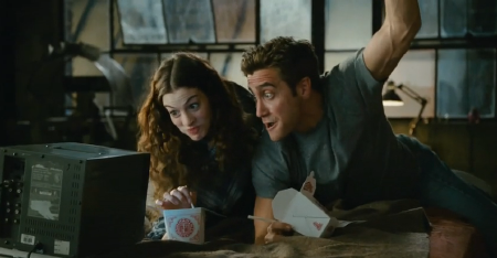 Maggie and Jamie cheer Viagra from the 20th Century Fox film Love and Other Drugs