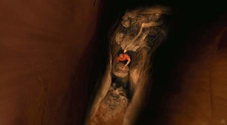 Aron is stuck in the Film4 Film 127 Hours