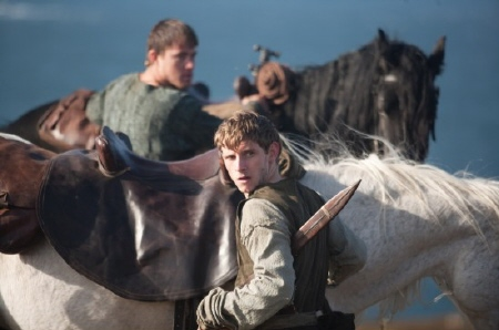 Esca and Marcus ready the horses from the Focus Features film The Eagle