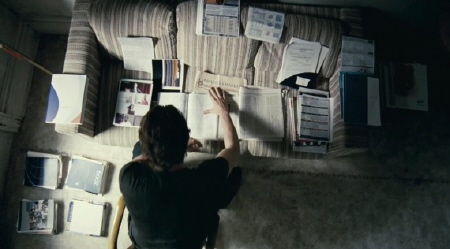 Eddie researching from the Relativity Media film Limitless