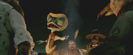Rango tells a campfire story from the Nickelodeon Film Rango