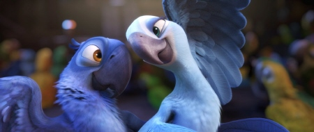 Blu and Jewel dance from the Twentieth Century Fox Animation film Rio