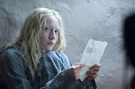 Hanna with her abnormal DNA report from the Focus Features film Hanna